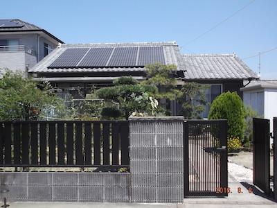 太陽光発電システム設置事例 浜松市NK様
