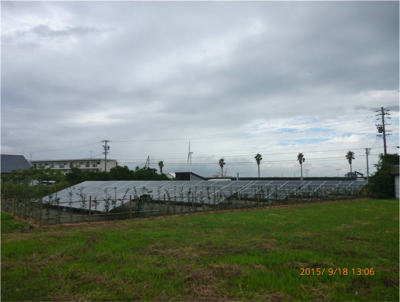 静岡県御前崎市Y様 産業用太陽光発電システム設置事例
