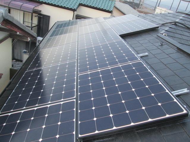 富士市W様 シャープ製太陽光発電システム3.76kw