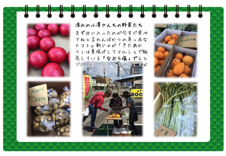 清水の小澤さんちの野菜たち