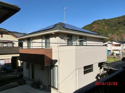 静岡市K様 パナソニック製太陽光発電システム5.84kw